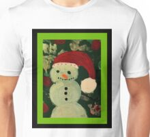 Shy Snowman with a Carrot Nose Unisex T-Shirt
