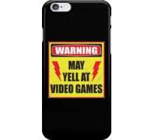 Gamer Warning iPhone Case/Skin