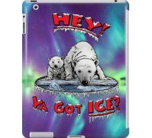 "Mother & Cub Polar Bears: ""Hey! Ya Got ICE?"" iPad Case/Skin"