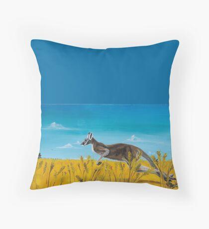 Aussie Backyard Throw Pillow