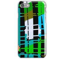 Abstract colorful teal aqua green orange iPhone Case/Skin