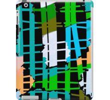 Abstract colorful teal aqua green orange iPad Case/Skin