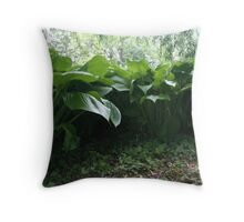 Leafy Shelter of the Underworld Throw Pillow