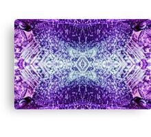 Frozen flower macro kaleidoscope, 1 Canvas Print