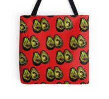 Avocado - Red Tote Bag