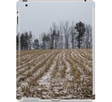 Snowy Winter Cornfields iPad Case/Skin