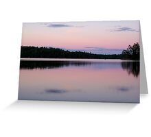 Boundary Waters Lake Sunset Greeting Card