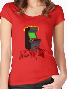 Arcade Fire-Literally Women's Fitted Scoop T-Shirt