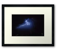 Another electrical storm - Perth, Western Australia (26-2-2010) Framed Print