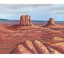 The Mittens ~Tse'Bii'Ndzisgaii ~ Southwest Landscape Photographic Print