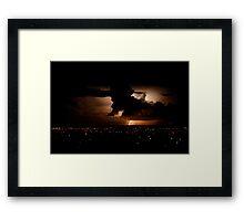 Another lightning shot - Perth, Western Australia (24-3-2010) Framed Print