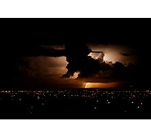 Another lightning shot - Perth, Western Australia (24-3-2010) Photographic Print