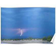 261 Lighting Bolt Strike 421 Poster