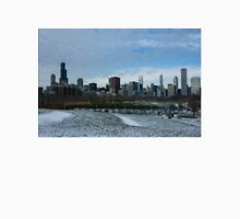 Wintry Windy City Skyline - Chicago, Illinois, USA Unisex T-Shirt