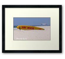 Surf Lifesavers surfboard - Cottesloe Beach, Perth, Western Australia (14-12-2006) Framed Print