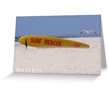 Surf Lifesavers surfboard - Cottesloe Beach, Perth, Western Australia (14-12-2006) Greeting Card