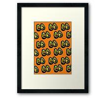 Avocado - Orange Framed Print