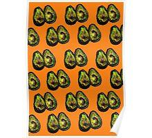 Avocado - Orange Poster
