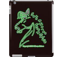 Neon Green Glow Save a Horse Free A Spirit iPad Case/Skin