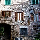 The Windows of Gavigano Italy by Warren. A. Williams
