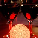 Red Wine Red Light Red Reflections by Karen Martin