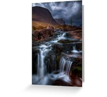 The Russell Burn , Applecross, Western Scotland. Greeting Card