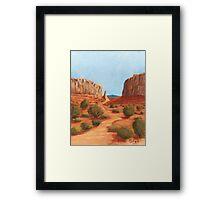 Amazing Views ~ Southwest Landscape ~ Oil Painting Framed Print
