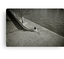 Solitude in Paris Canvas Print