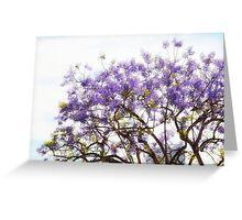 Purple Coastal Flowers CALIFORNIA Greeting Card