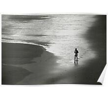 Solitude on beach Poster