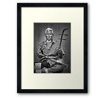 Musician in Bangkok Framed Print