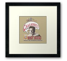 Khan's CAAAANNED!! Meat Snacks Framed Print