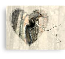 My Little Squirrelly Heart Canvas Print