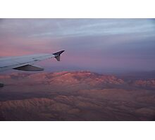 Flying Over the Mojave Desert at Sunrise Photographic Print