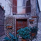On The Corner in Gavigona Italy by Warren. A. Williams