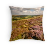 Heather, Rosedale, North Yorkshire Moors Throw Pillow