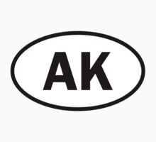 Alaska - AK - oval sticker by welikestuff