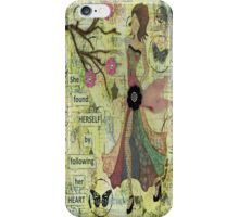 She Found Herself by Following Her Heart iPhone Case/Skin