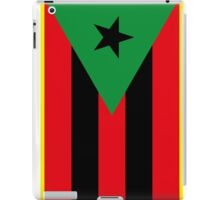 Afro Puerto Rican Flag iPad Case/Skin