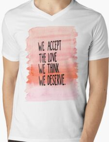 The Perks Of Being A WallFlower Quote Mens V-Neck T-Shirt