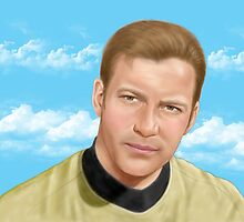 William Shatner as James T. Kirk by artbycheryllyne