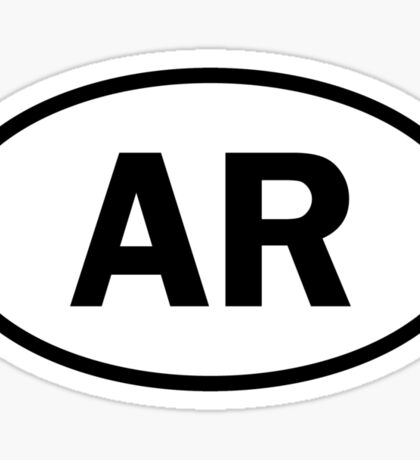 Arkansas - AR - oval sticker Sticker