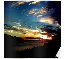 Sunset At Combe Martin -June 3rd 2010 Poster