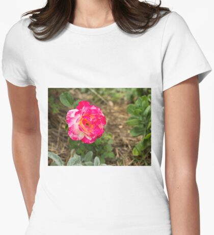 Rose.... Womens Fitted T-Shirt