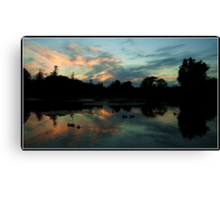 X Marks the Sunset Canvas Print