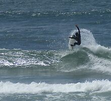 Surfer II, Cox Beach by Brian Middleton