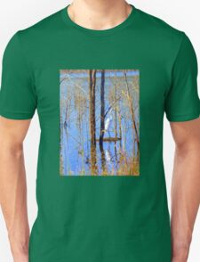 White Heron at Hinze Dam Numinbah Valley .Qld . Unisex T-Shirt