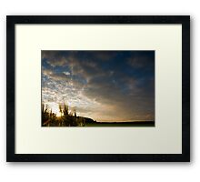 Barley Sunset! Framed Print