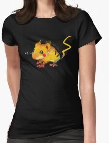 Electric Mouse Womens Fitted T-Shirt