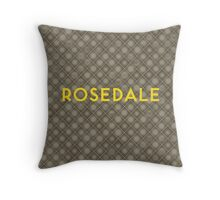 ROSEDALE Subway Station Throw Pillow